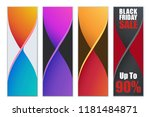 twisted colorful design... | Shutterstock .eps vector #1181484871