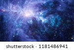 stars of a planet and galaxy in ... | Shutterstock . vector #1181486941