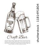 craft beer brew bottle and... | Shutterstock .eps vector #1181491804