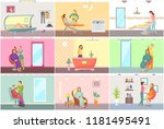 spa salon tanning and... | Shutterstock .eps vector #1181495491