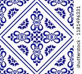 ceramic tile pattern  porcelain ... | Shutterstock .eps vector #1181496331