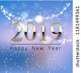 a beautiful new year greeting... | Shutterstock .eps vector #1181499361