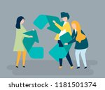 character of people holding a... | Shutterstock .eps vector #1181501374