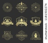 christmas labels and badges... | Shutterstock .eps vector #1181502274