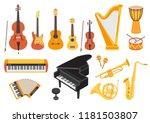 big musical instruments set... | Shutterstock .eps vector #1181503807