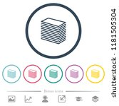 paper stack flat color icons in ... | Shutterstock .eps vector #1181505304