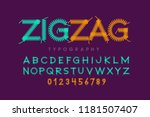 zigzag font stitched with... | Shutterstock .eps vector #1181507407