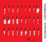 set of butcher meat knives for... | Shutterstock .eps vector #1181508031