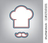 chef hat and moustache sign....   Shutterstock .eps vector #1181510101