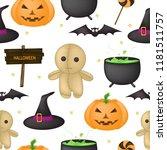 vector seamless pattern for... | Shutterstock .eps vector #1181511757