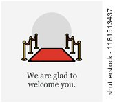 we are glad to welcome you... | Shutterstock .eps vector #1181513437