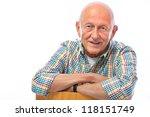 portrait of a happy senior man... | Shutterstock . vector #118151749