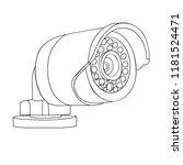 sketch camera  cctv | Shutterstock .eps vector #1181524471