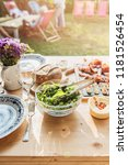 table set for outdoor family... | Shutterstock . vector #1181526454