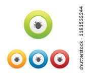 colorful spider round icons | Shutterstock .eps vector #1181532244