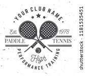 paddle tennis badge  emblem or... | Shutterstock .eps vector #1181535451