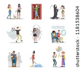 human phobia set. collection of ... | Shutterstock .eps vector #1181538604