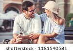 couple in love. romantic couple ... | Shutterstock . vector #1181540581