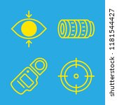 4 objective icons with aim and... | Shutterstock .eps vector #1181544427