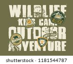 wildlife outdoor adventure kids ... | Shutterstock .eps vector #1181544787
