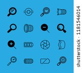 16 zoom icons with camera focus ... | Shutterstock .eps vector #1181546014