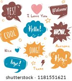 set of  comic speech bubbles on ... | Shutterstock .eps vector #1181551621