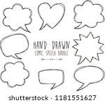 set of empty comic speech... | Shutterstock .eps vector #1181551627