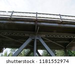 low angle view of an old  tall  ...   Shutterstock . vector #1181552974