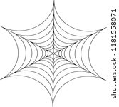 abstract decorative spider web... | Shutterstock .eps vector #1181558071