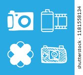 4 picture icons with photo... | Shutterstock .eps vector #1181558134