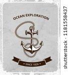 maritime symbols logo on a... | Shutterstock .eps vector #1181558437