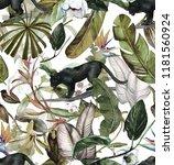 seamless watercolor pattern... | Shutterstock . vector #1181560924