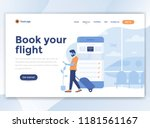 landing page template of book... | Shutterstock .eps vector #1181561167