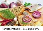 forshmak  herring paste  spread ... | Shutterstock . vector #1181561197