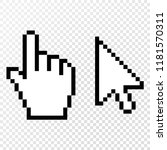 Set Of 2 Pixel Cursors. Vector...