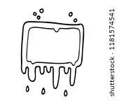 line drawing cartoon dripping...   Shutterstock . vector #1181574541