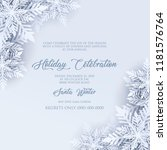 merry christmas party... | Shutterstock .eps vector #1181576764
