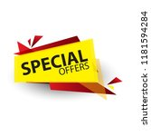 yellow abstract special offer... | Shutterstock .eps vector #1181594284
