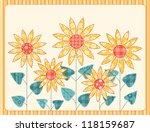patchwork yellow sunflowers... | Shutterstock . vector #118159687