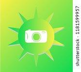 photo camera vector icon | Shutterstock .eps vector #1181599957