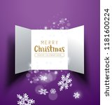 christmas advent calendar doors ... | Shutterstock .eps vector #1181600224