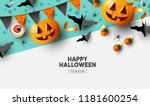 happy halloween holiday party... | Shutterstock .eps vector #1181600254