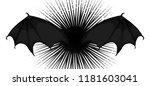 monster  vampire or demon bat... | Shutterstock .eps vector #1181603041
