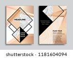 abstract brochure design.flyer... | Shutterstock .eps vector #1181604094