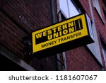a branch of western union... | Shutterstock . vector #1181607067