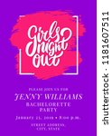 girls night out. bachelorette... | Shutterstock .eps vector #1181607511