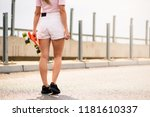 young beautiful blonde girl... | Shutterstock . vector #1181610337