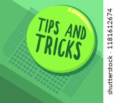 writing note showing tips and... | Shutterstock . vector #1181612674