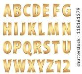 vector golden alphabet | Shutterstock .eps vector #118161379