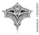 polynesian style ornament  good ... | Shutterstock .eps vector #1181618347